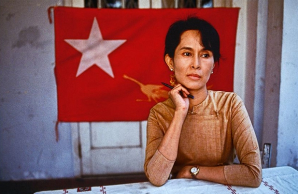 Aung San Suu Kyi stood up for what she believed was right, in the face of life-treathening risks